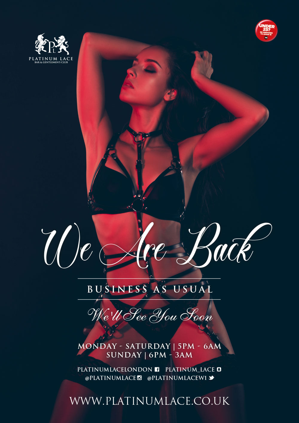 we are back at platinum lace london