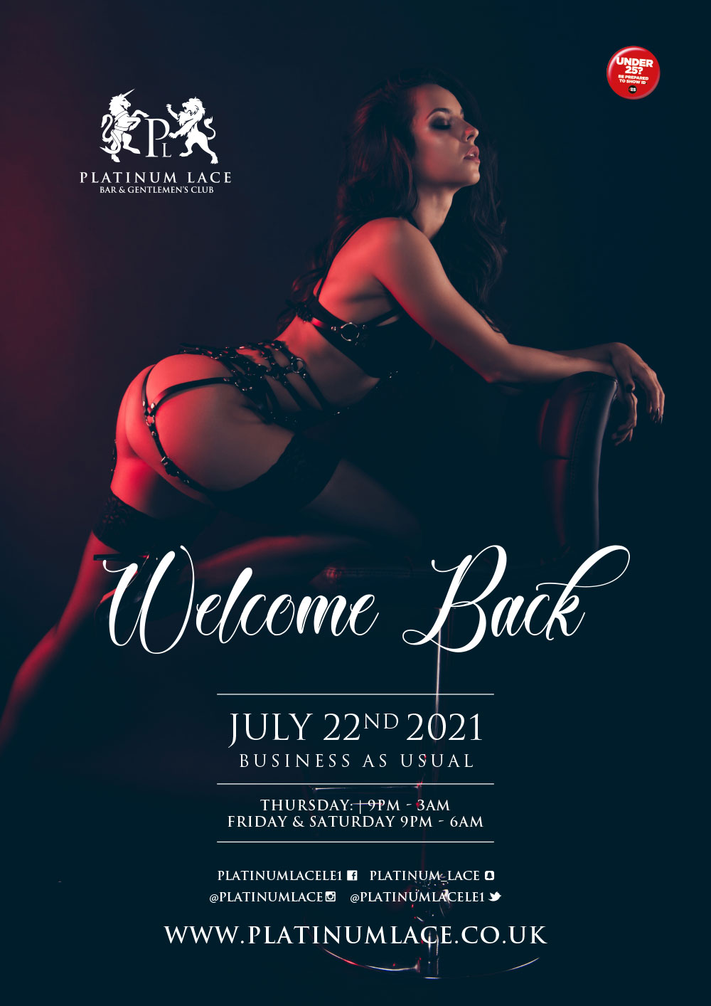 Full reopening on July 22nd at platinum lace leicester
